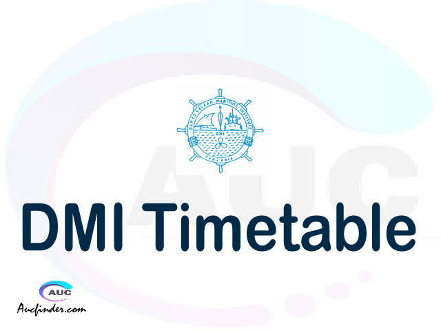 DMI timetable, DMI timetable second semester, OSIM DMI timetable semester 2, Second Semester time table, second semester time table,