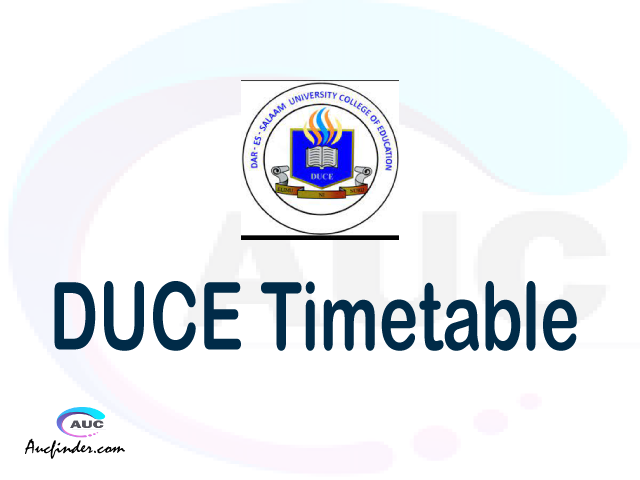 DUCE timetable, DUCE timetable second semester, ARIS DUCE timetable semester 2, Second Semester time table, second semester time table,
