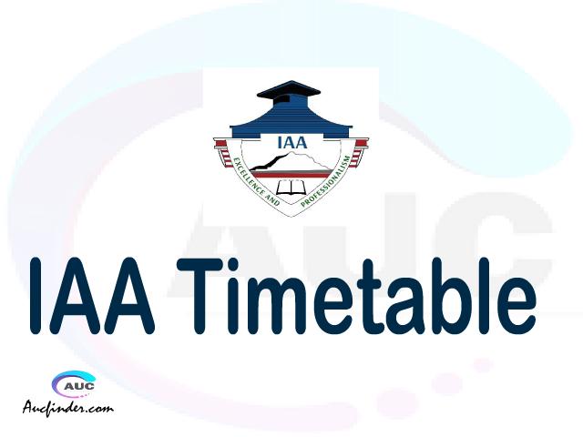 IAA timetable, IAA timetable second semester, ISMS IAA timetable semester 2, Second Semester time table, second semester time table,