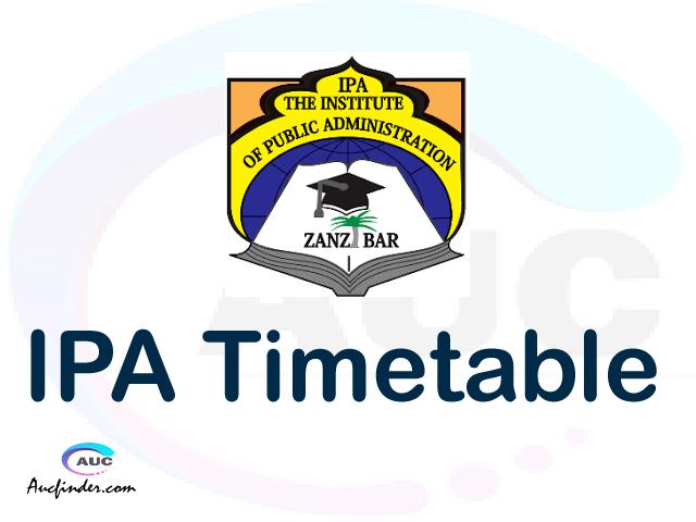 IPA timetable, IPA timetable second semester, STAR IPA timetable semester 2, Second Semester time table, second semester time table,