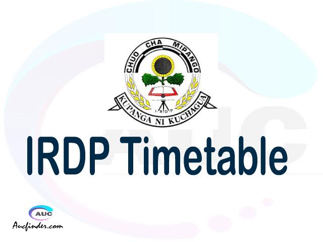 IRDP timetable, IRDP timetable second semester, SRS IRDP timetable semester 2, Second Semester time table, second semester time table,