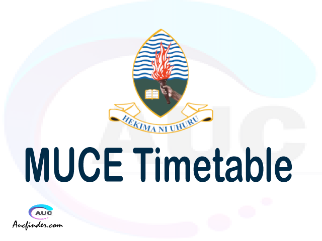 MUCE timetable, MUCE timetable second semester, ARIS MUCE timetable semester 2, Second Semester time table, second semester time table,