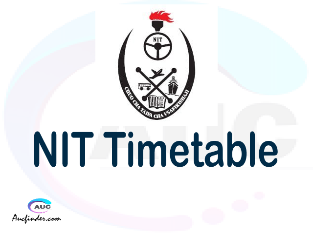 NIT timetable, NIT timetable second semester, SIMS NIT timetable semester 2, Second Semester time table, second semester time table,