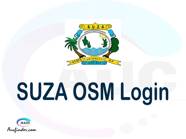 SUZA OSM, State University of Zanzibar Student Information Management System, SUZA login account My account, SUZA login account, SUZA login, SUZA OSM SUZA login, SUZA login to My account Login