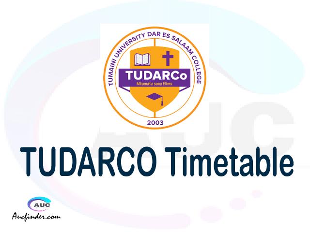 TUDARCO timetable, TUDARCO timetable second semester, OSIM TUDARCO timetable semester 2, Second Semester time table, second semester time table,