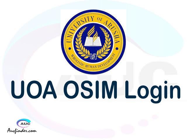 UOA OSIM, University of Arusha Student Information Management System, UOA login account My account, UOA login account, UOA login, UOA OSIM UOA login, UOA login to My account Login