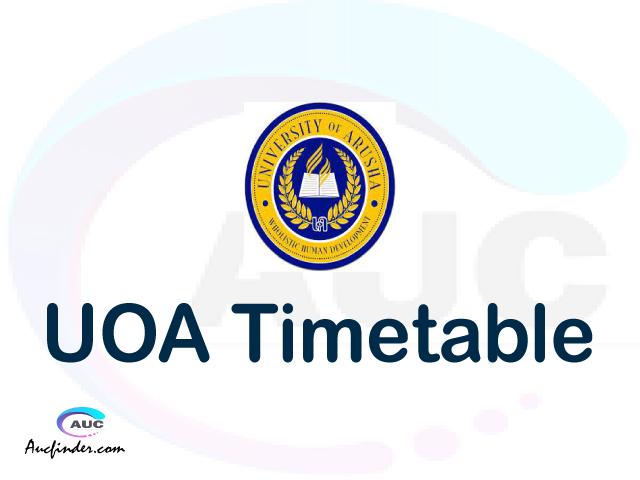 UOA timetable, UOA timetable second semester, OSIM UOA timetable semester 2, Second Semester time table, second semester time table,