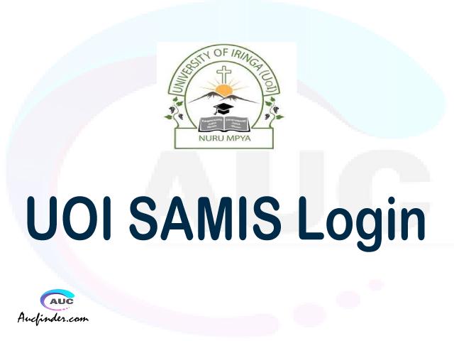 UOI SAMIS, University of Iringa Student Management Information System, UOI login account My account, UOI login account, UOI login, UOI SAMIS UOI login, UOI login to My account Login