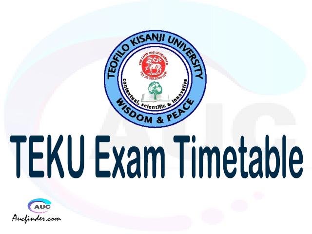 TEKU Examination Time Table-, TEKU UE timetable, UE timetable TEKU, TEKU supplementary timetable, TEKU UE timetable second semester, TEKU supplementary timetable